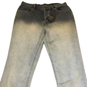 Armani Exchange Light Wash Dip Dye Bleached jeans
